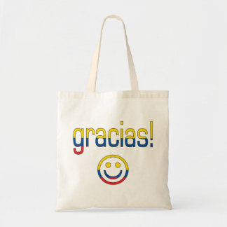 Gracias Ecuador Flag Colors Tote Bags