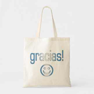 Gracias! Guatemala Flag Colours Budget Tote Bag