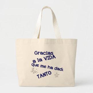 gracias jumbo tote bag