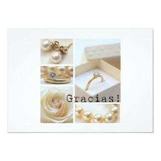 Gracias La Sposa di Sabbia Wedding 13 Cm X 18 Cm Invitation Card
