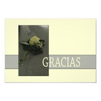Gracias La Sposa di Sabbia Wedding 9 Cm X 13 Cm Invitation Card