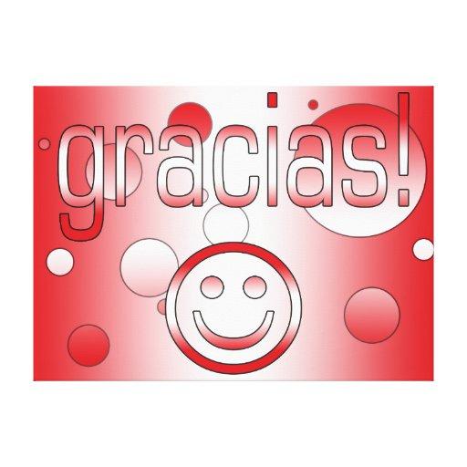 Gracias! Peru Flag Colors Pop Art Gallery Wrapped Canvas