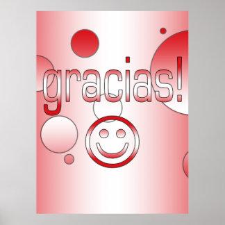 Gracias Peru Flag Colors Pop Art Posters