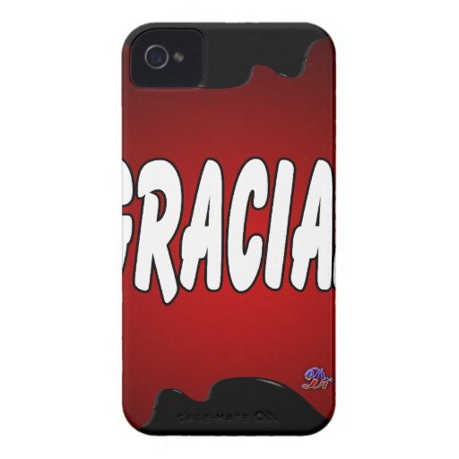 GRACIAS RED BACKGROUND PRODUCTS Case-Mate iPhone 4 CASES