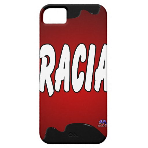 GRACIAS RED BACKGROUND PRODUCTS iPhone 5/5S COVERS