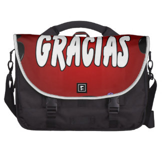 GRACIAS RED BACKGROUND PRODUCTS BAGS FOR LAPTOP