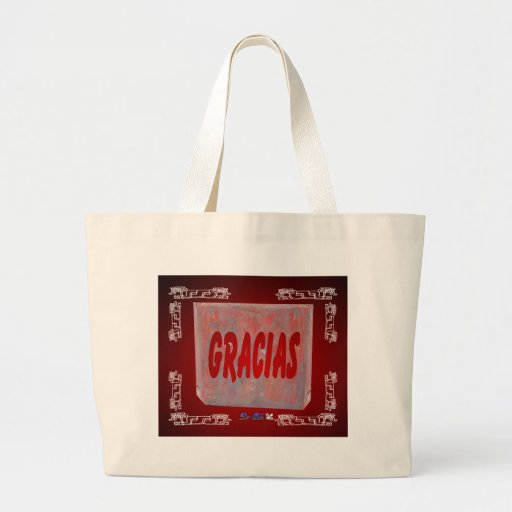 GRACIAS RED CUSTOMIZABLE PRODUCTS BAGS