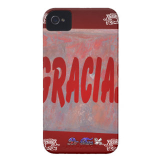 GRACIAS RED CUSTOMIZABLE PRODUCTS Case-Mate iPhone 4 CASES
