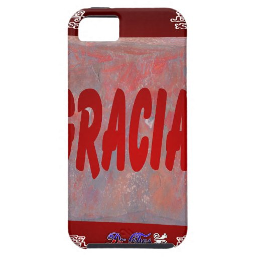 GRACIAS RED CUSTOMIZABLE PRODUCTS iPhone 5/5S CASE