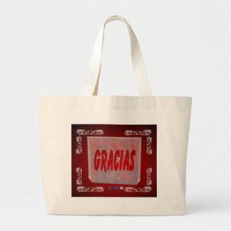 GRACIAS RED CUSTOMIZABLE PRODUCTS JUMBO TOTE BAG