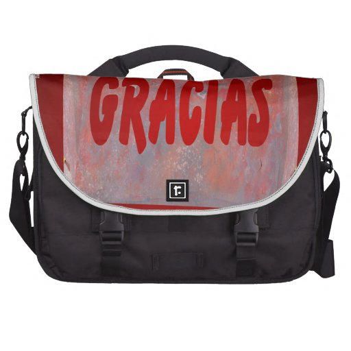 GRACIAS RED CUSTOMIZABLE PRODUCTS COMMUTER BAG