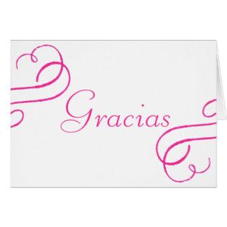 Gracias -rosa note card