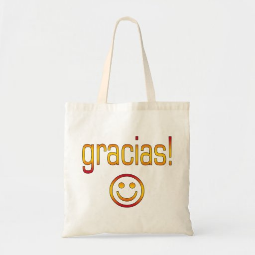 Gracias! Spain Flag Colors Canvas Bags