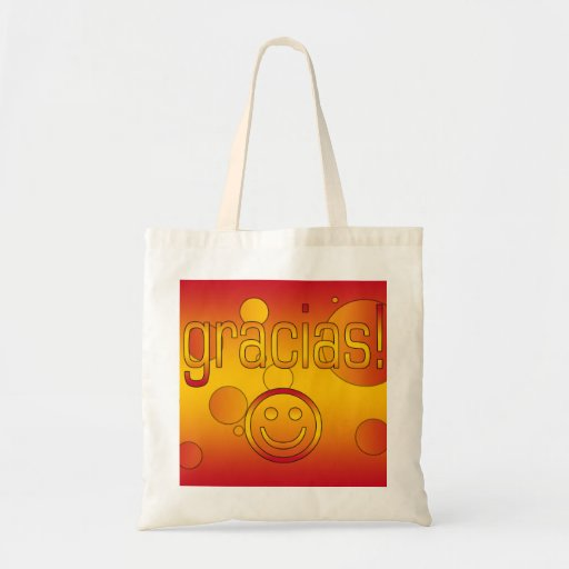 Gracias! Spain Flag Colors Pop Art Tote Bag