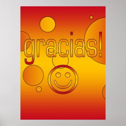 Gracias! Spain Flag Colors Pop Art Poster