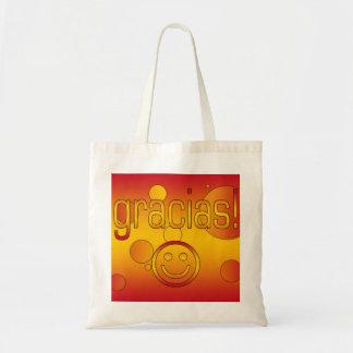 Gracias Spain Flag Colors Pop Art Tote Bag