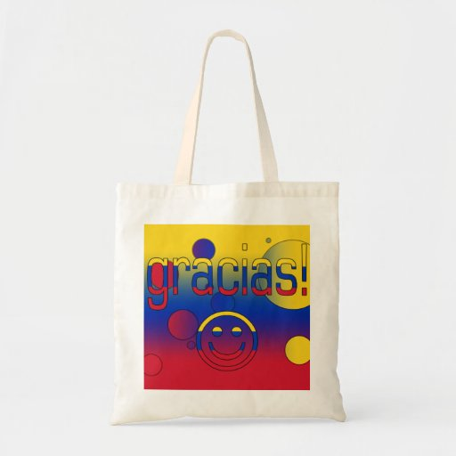 Gracias! Venezuela Flag Colors Pop Art Canvas Bag