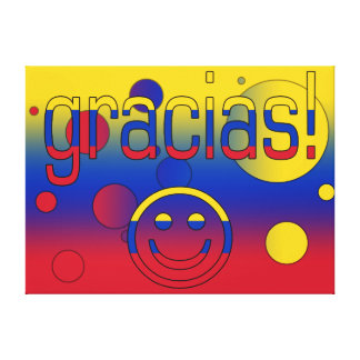 Gracias Venezuela Flag Colors Pop Art Gallery Wrap Canvas