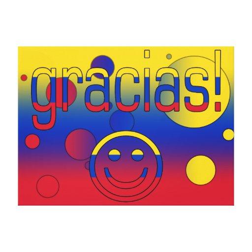 Gracias! Venezuela Flag Colors Pop Art Gallery Wrap Canvas