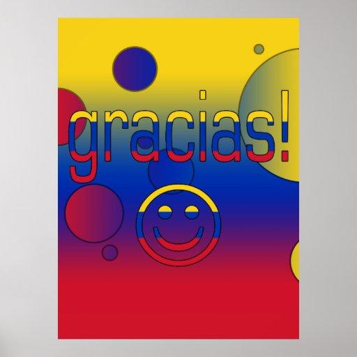 Gracias! Venezuela Flag Colors Pop Art Posters