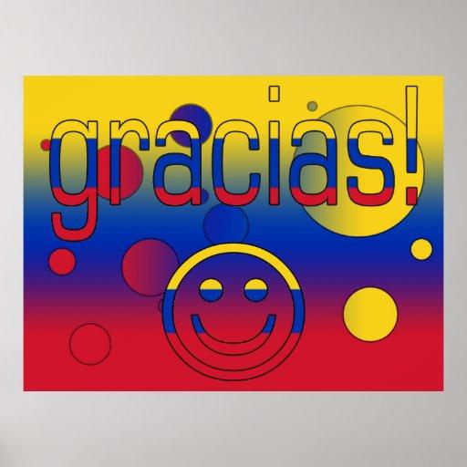 Gracias! Venezuela Flag Colors Pop Art Print