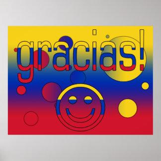 Gracias Venezuela Flag Colors Pop Art Print