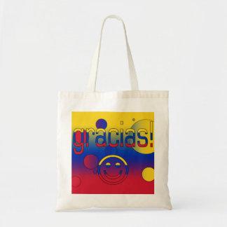 Gracias! Venezuela Flag Colors Pop Art Canvas Bag