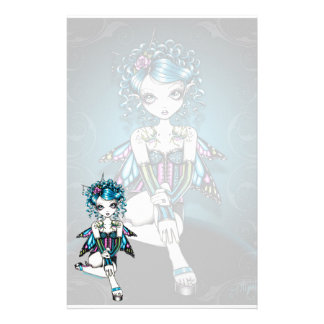 """""""Gracie"""" Gothic Couture Swallow Fairy Stationery"""