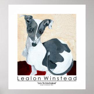 Gracie, The Italian Greyhound Poster