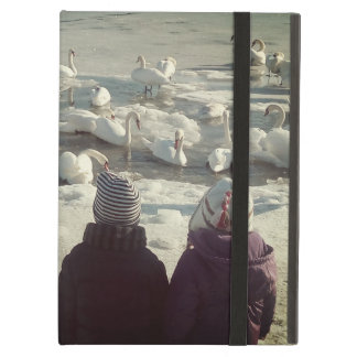 Gracious Swans On Frozen River Danube iPad Air Cover For iPad Air