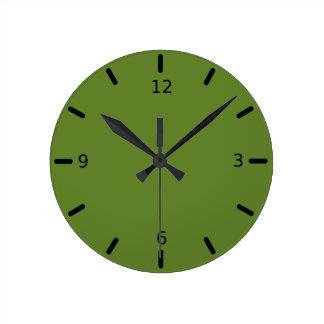 Graciously Social Green Color Round Clock