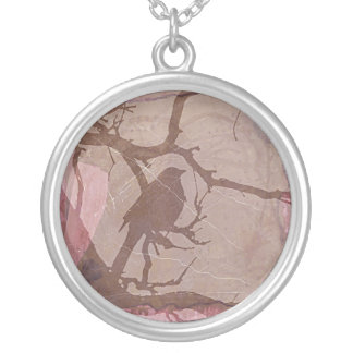 Grackle Grunge 2 Silver Plated Necklace