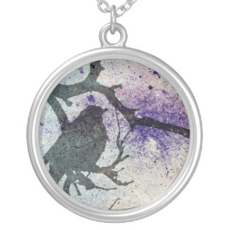 Grackle Grunge Silver Plated Necklace