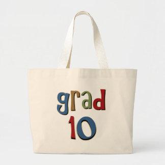 Grad 10 tote bags