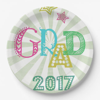 Grad 2017 Paper plate for party celebrations!