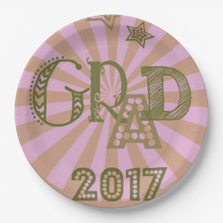 Grad 2017 Pink Paper plate for party celebrations!