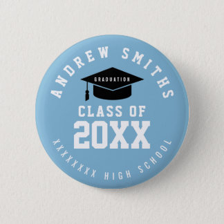 grad button with name and class year