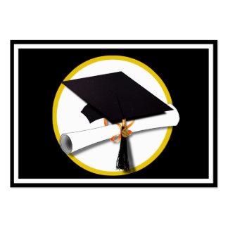 Grad Cap Diploma - Black Background Business Card