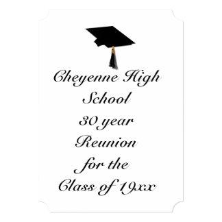Grad Cap - High School Class Reunion Card