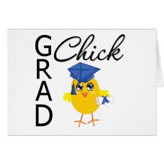Grad Chick (Blue Cap) Greeting Cards
