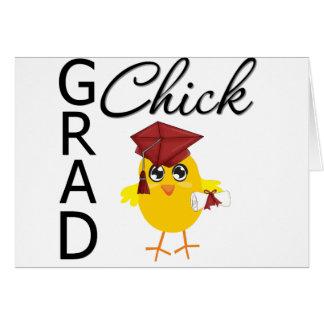 Grad Chicks (Burgundy Cap) Greeting Card