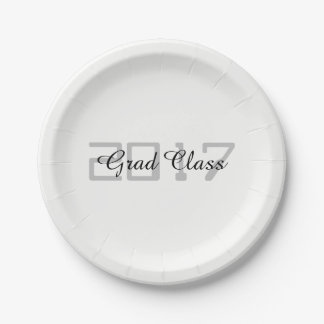 Grad Class 2017 - 7 Inch Paper Plate