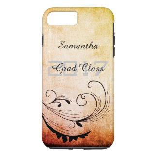 Grad Class 2017 with Your Name - iPhone 8 Plus/7 Plus Case