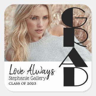 Grad - Class of 20XX - DIY Photo Square Sticker