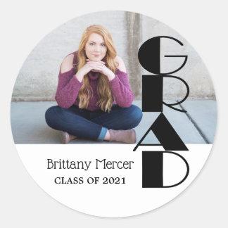 Grad  DIY Photo Classic Round Sticker
