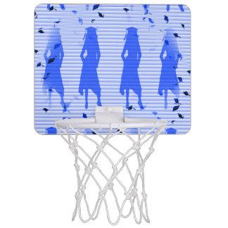 Grad Girls Blue Striped Swirl Mini Basketball Hoop
