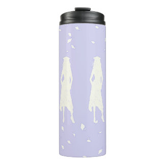 GRAD GIRLS IN LAVENDER AND WHITE THERMAL TUMBLER