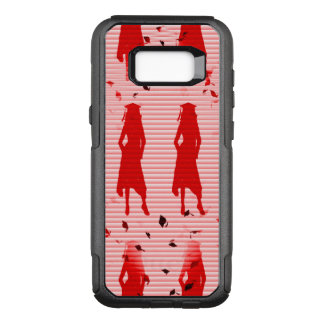 Grad Girls Red Striped Swirl OtterBox Commuter Samsung Galaxy S8+ Case
