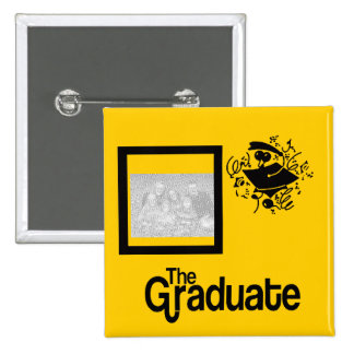 Grad Photo BUTTON-- choose COLOR 15 Cm Square Badge