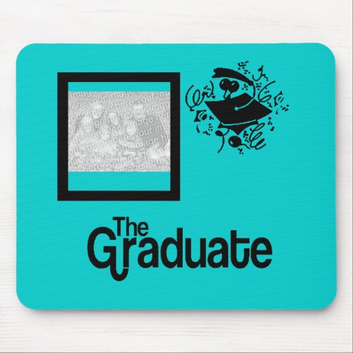 Grad Photo ~ U choose color background~! Mouse Mat
